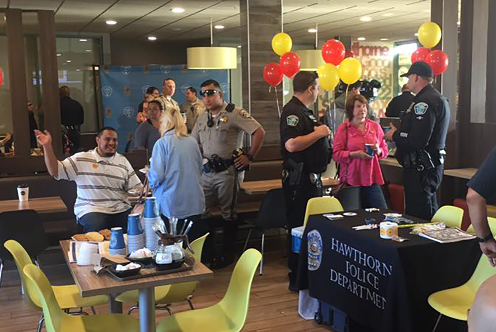 Coffee with a Cop event